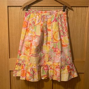 Lilly pulitzer Minnie's 14 sun patchwork skirt euc